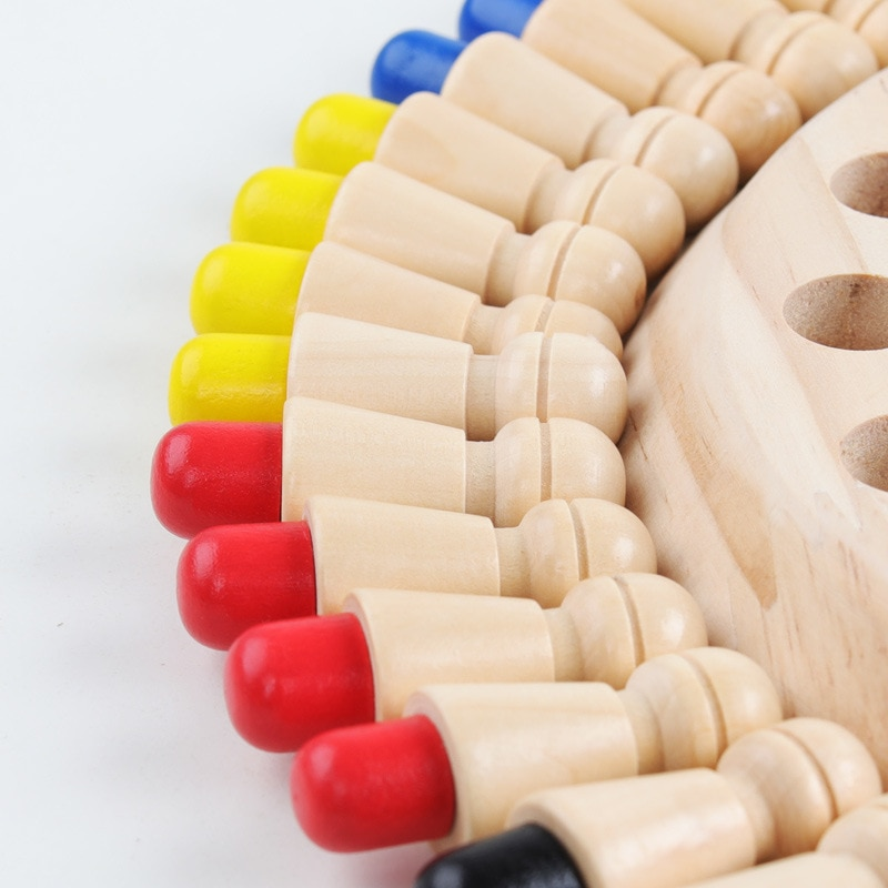 Wooden Color Matching Game