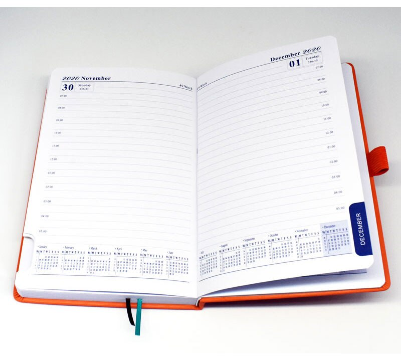 2020 Thick Notebook in Leather Material